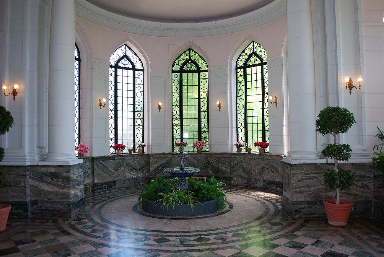 fountain in the lobby