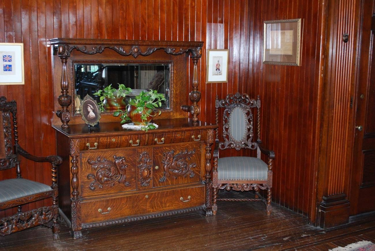 antique drawers and chairs