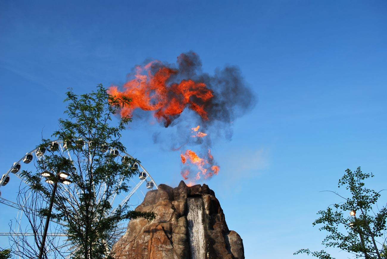 fire on sky