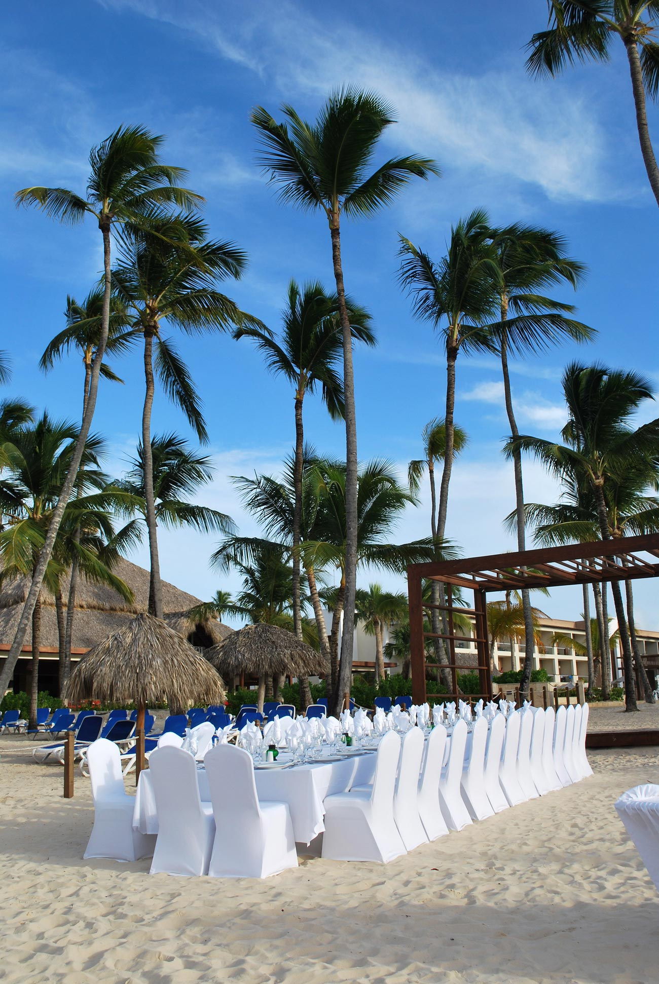beautiful decorated beach table
