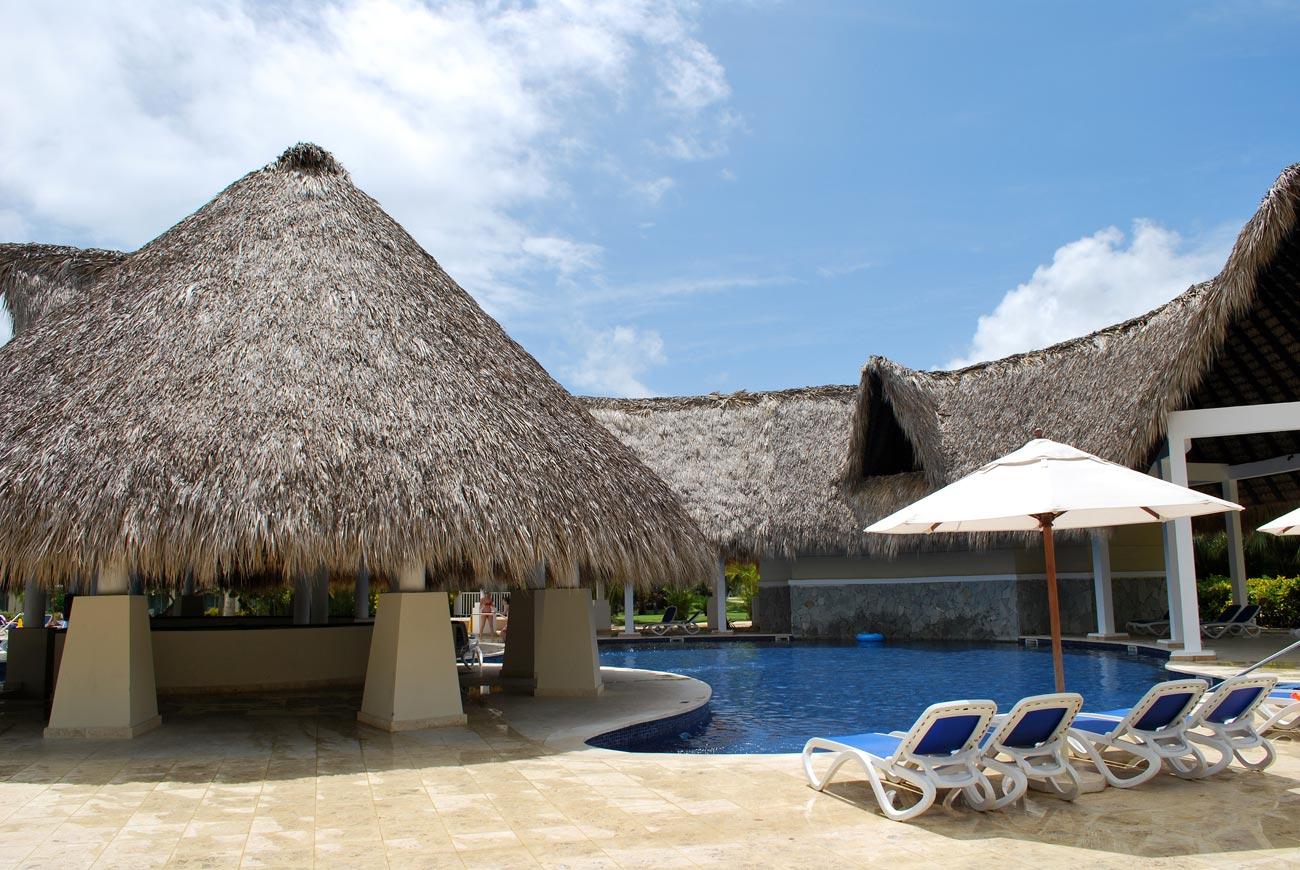 pool in tropical resort