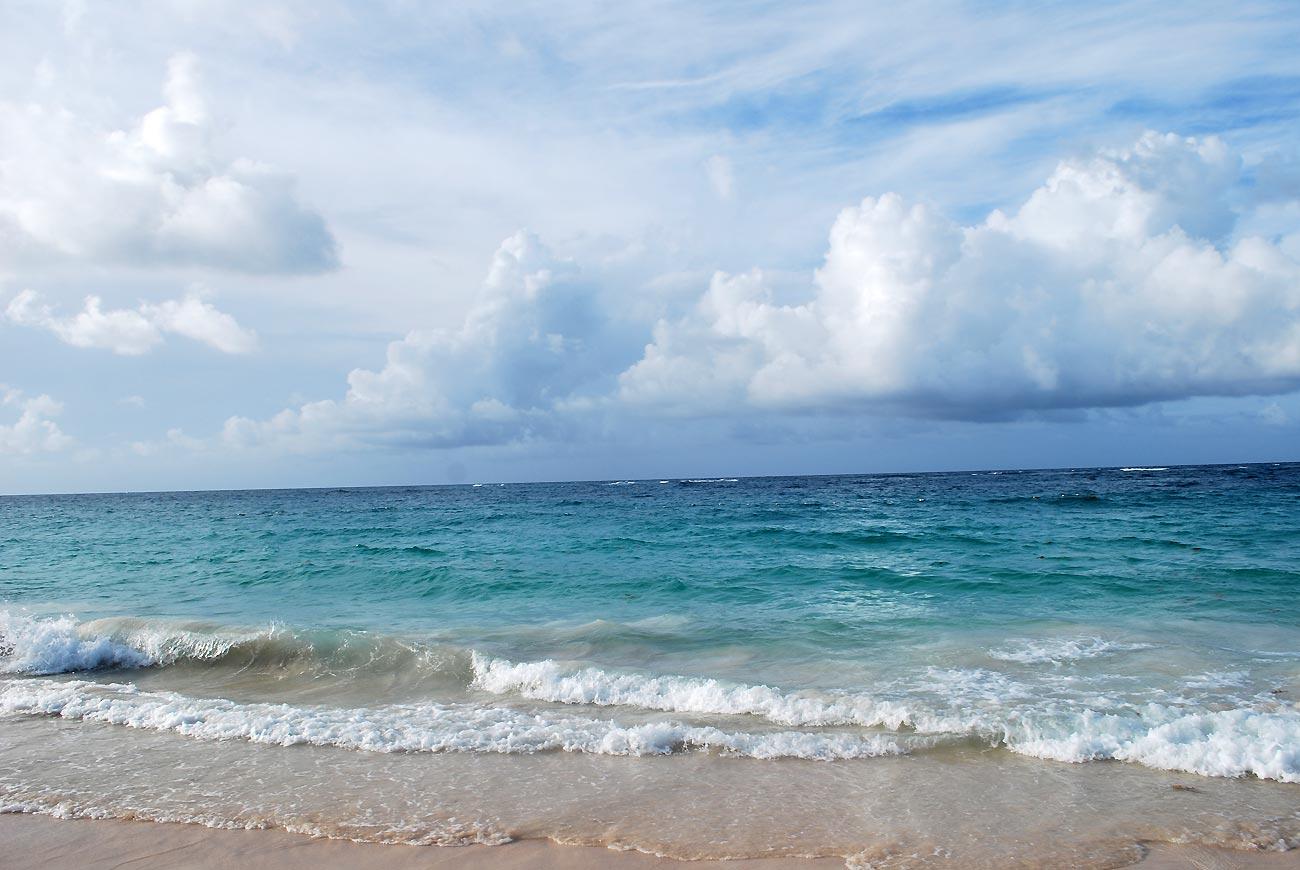 waves on sea sand