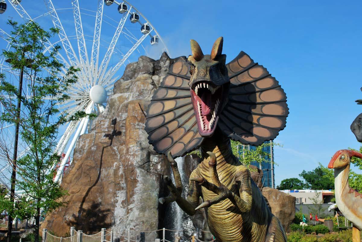dinosaur in park