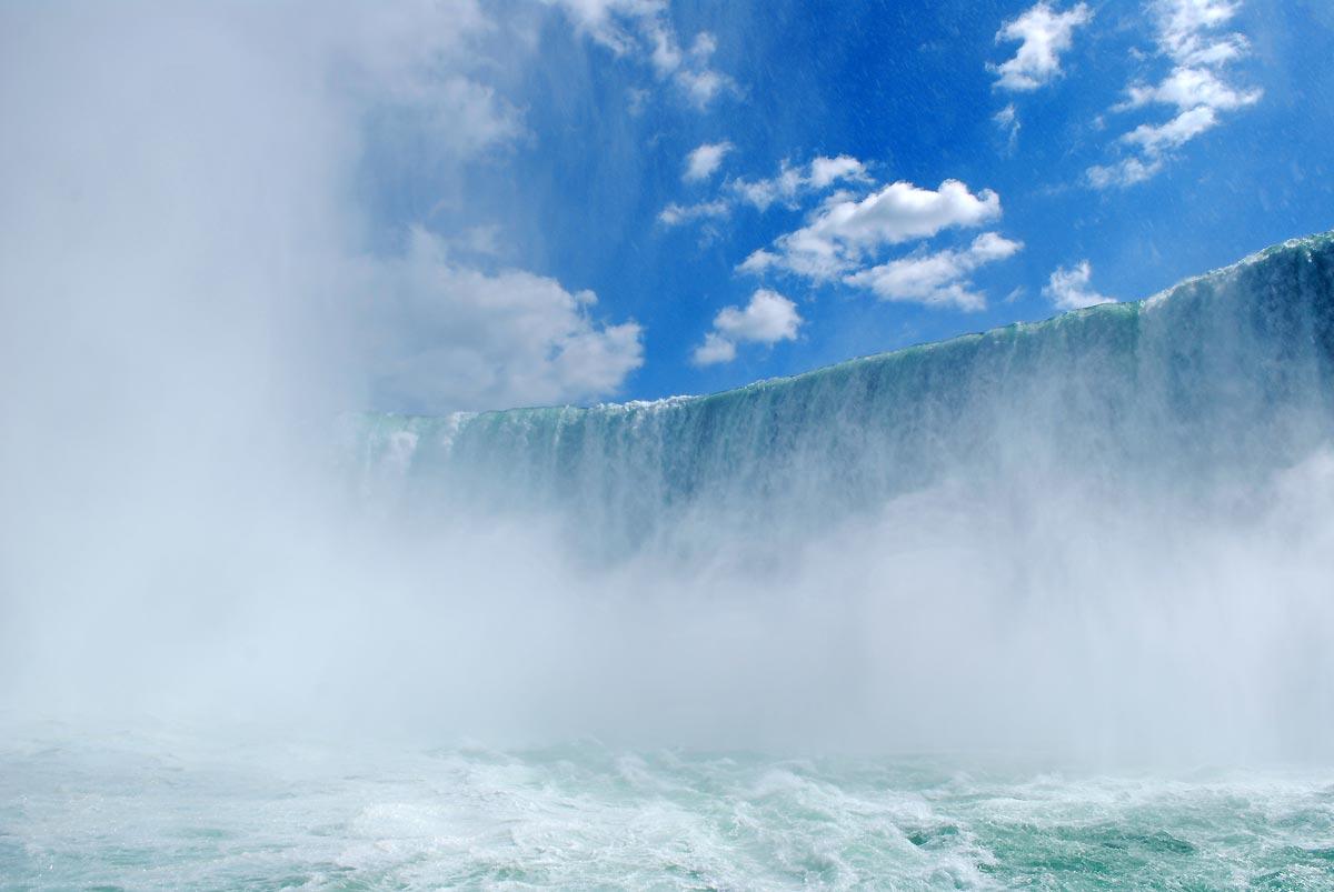 waterfall and sky