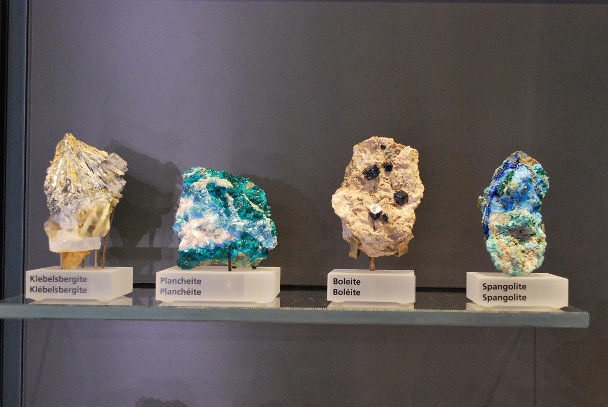 boleite and spangolite minerals