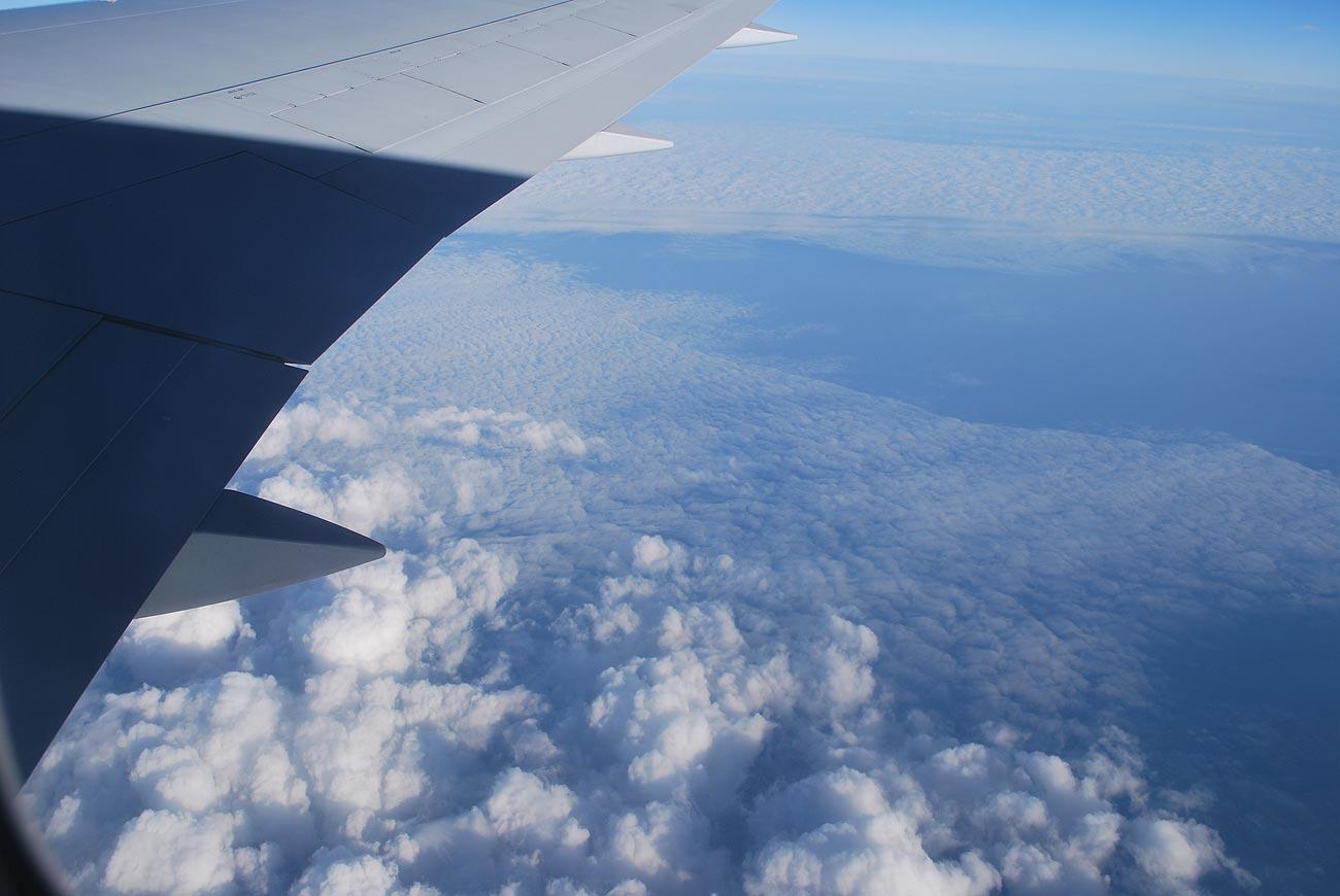 wing aircraft in flight