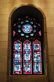 mosaic window in church