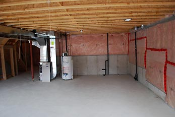 basement heater system