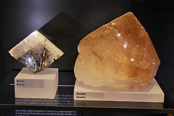 barite and quartz minerals