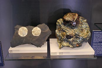 pyrite and almandine minerals