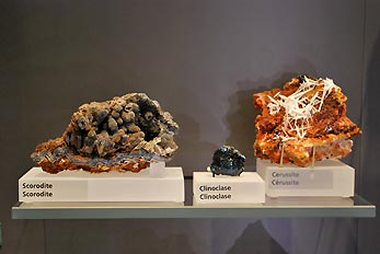 scorodite and clinoclase minerals