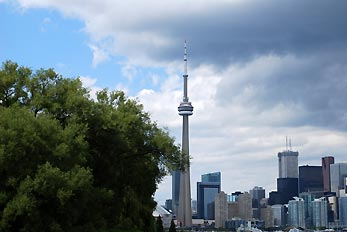 cntower from island