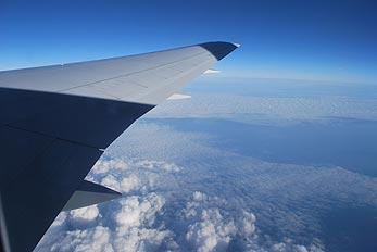 wing aircraft during flight