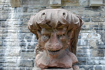 statue head at casa loma