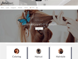 Hair Salon Joomla Template - Hairdresser