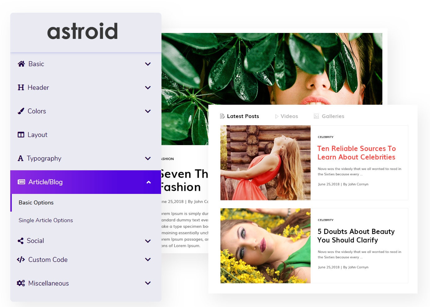 Visual Drag and Drop Joomla template
