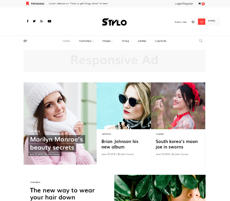 Modern Fashion Joomla Template