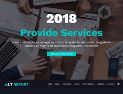 Financial Joomla Template - LT Report