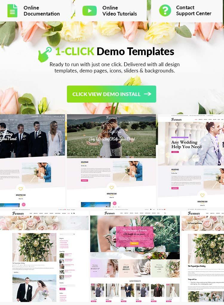 Wedding WordPress Theme Features
