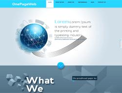 OnePage HTML Template - OnePageWeb