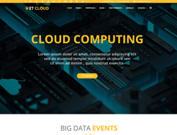 Hosting Joomla Template - ET Cloud