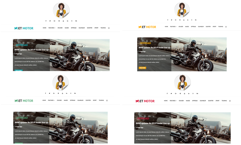 Motor Joomla Template Color Styles