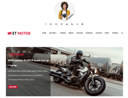 Bikers News Joomla Template - ET Motor