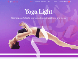 Fitness Joomla Template - ET Yoga