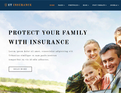 Insurance Joomla Template  - ET Insurance