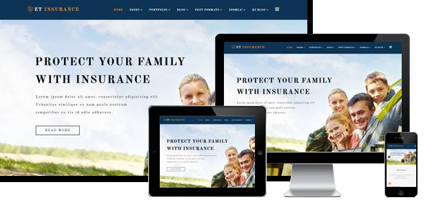 ET Insurance - Insurance Joomla Template