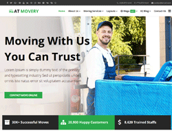 Logistic Joomla template - AT Movery