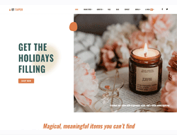 Christmas Candle Joomla Template - ET Taper