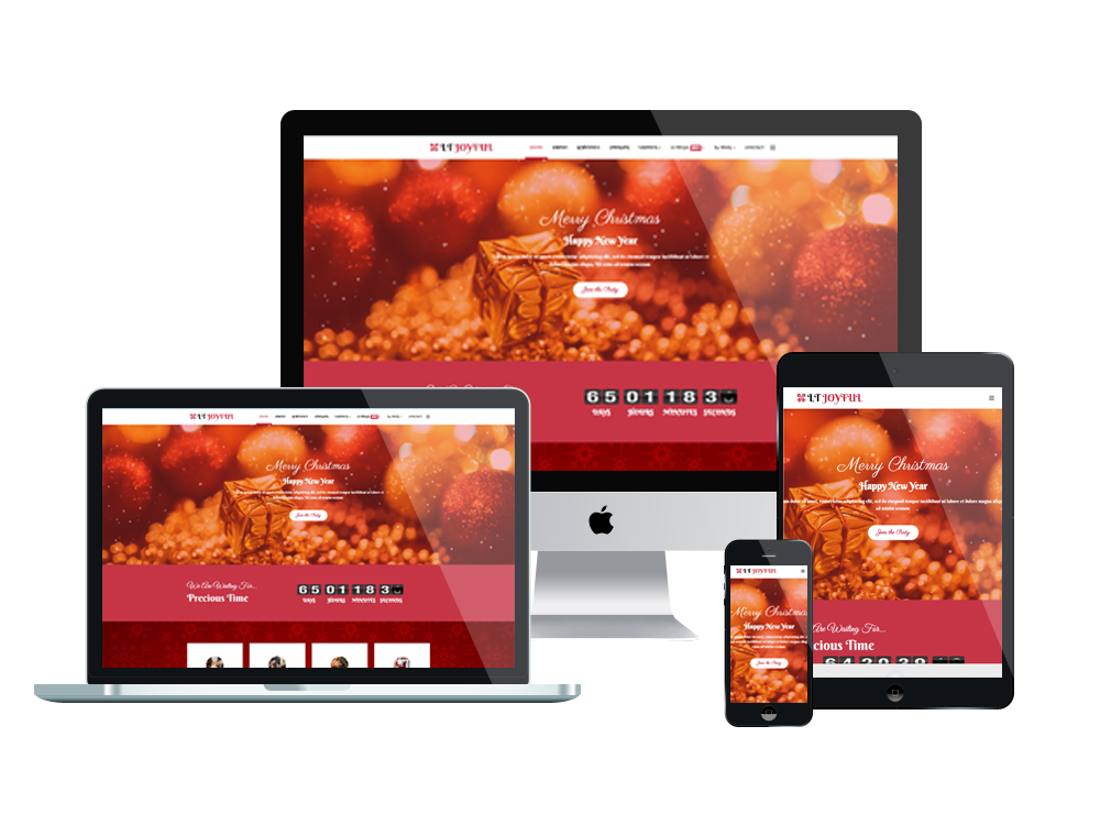 Christmas Party Joomla Template Layout