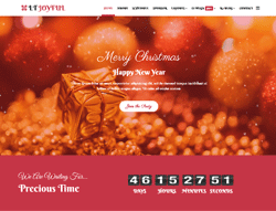Christmas Party Joomla Template - LT Joyful