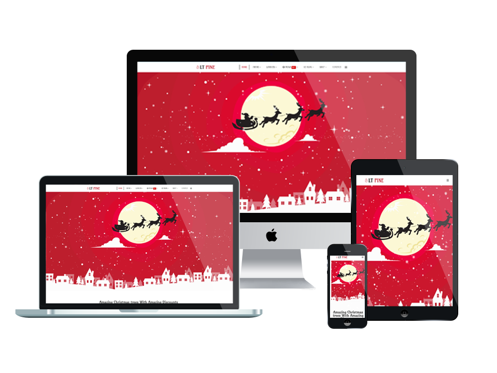 Xmas Tree Joomla Template Layout