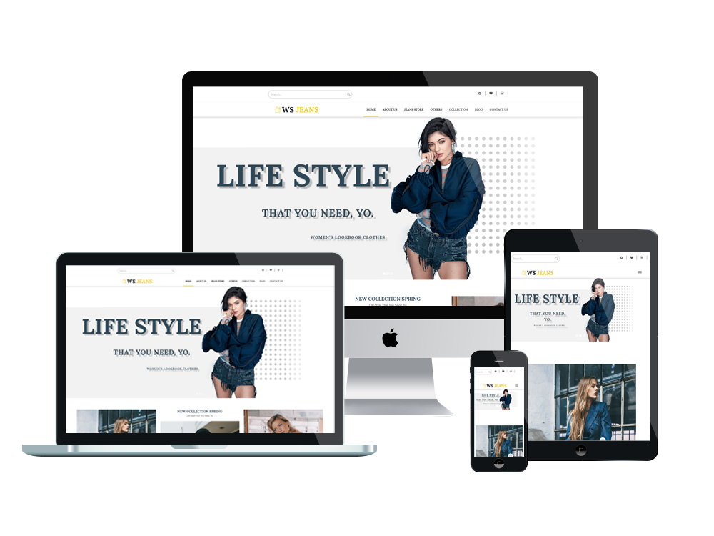 Fashion WooCommerce Wordpress mobile theme