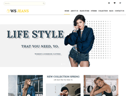 Fashion WordPress Theme - WS Jeans