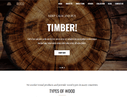 Carpenter WordPress Theme - WS Wood