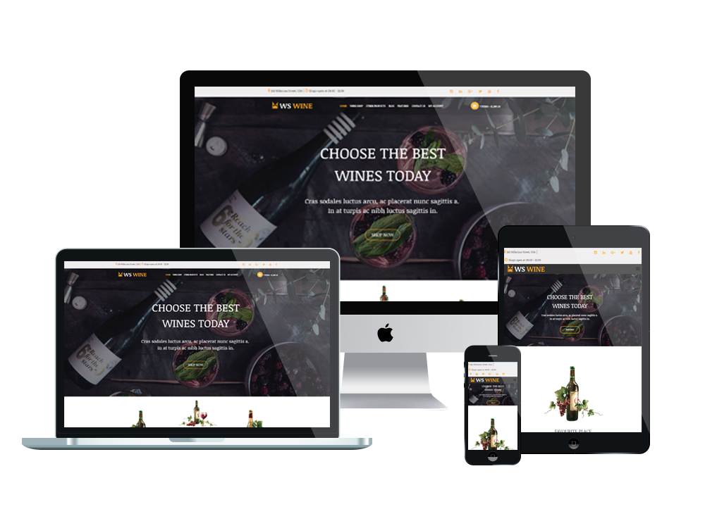 Wine Wordpress mobile theme