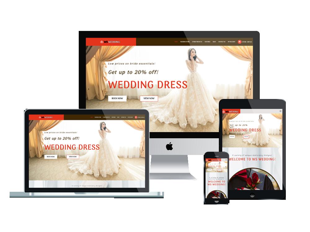 Wedding Wordpress mobile theme