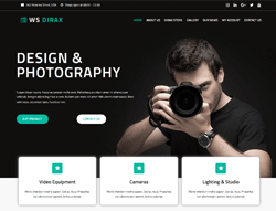 Camera Woocommerce WordPress Theme - WS Dirax