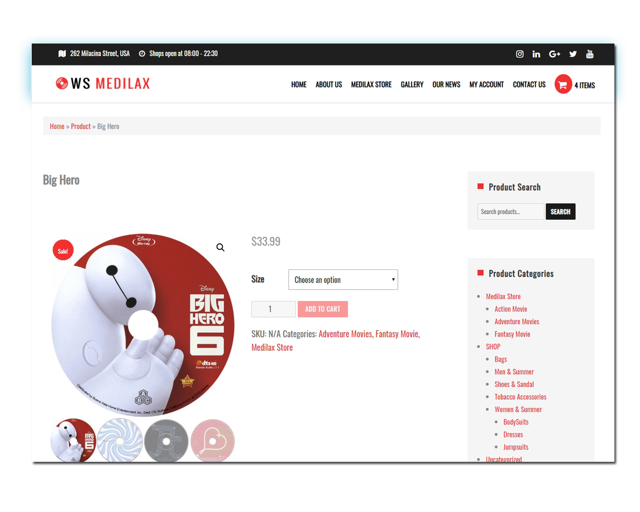 WS Digital Store woocommerce wordpress Product Page
