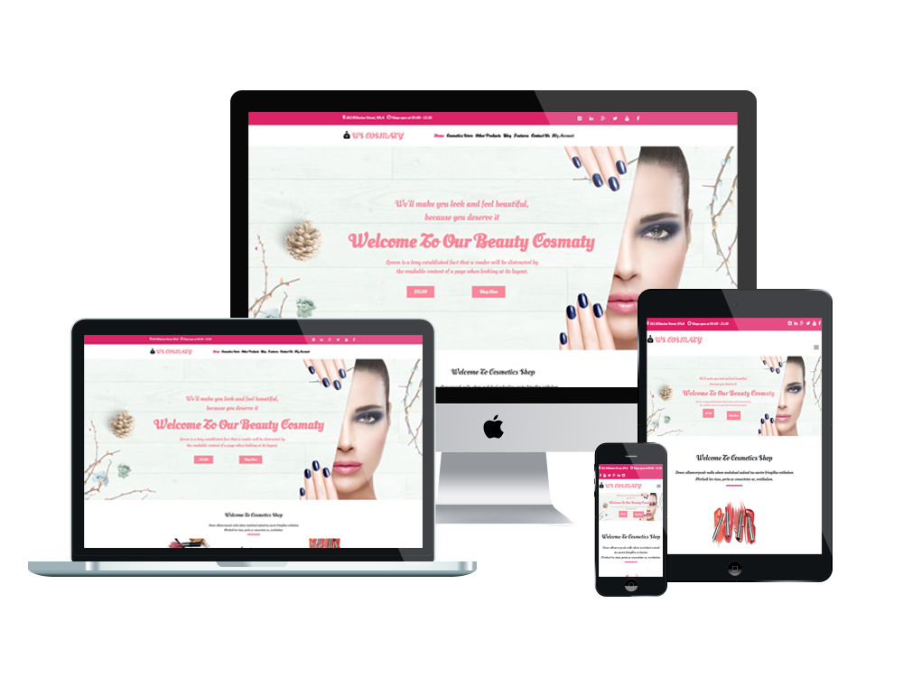 Cosmetics Store Wordpress mobile theme