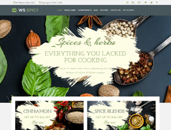 Spices Store WordPress Theme - WS Spicy