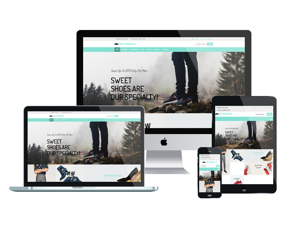 Shoes Wordpress mobile theme