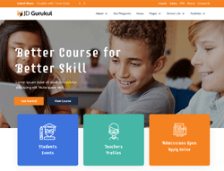 Education Joomla Template - JD Gurukul