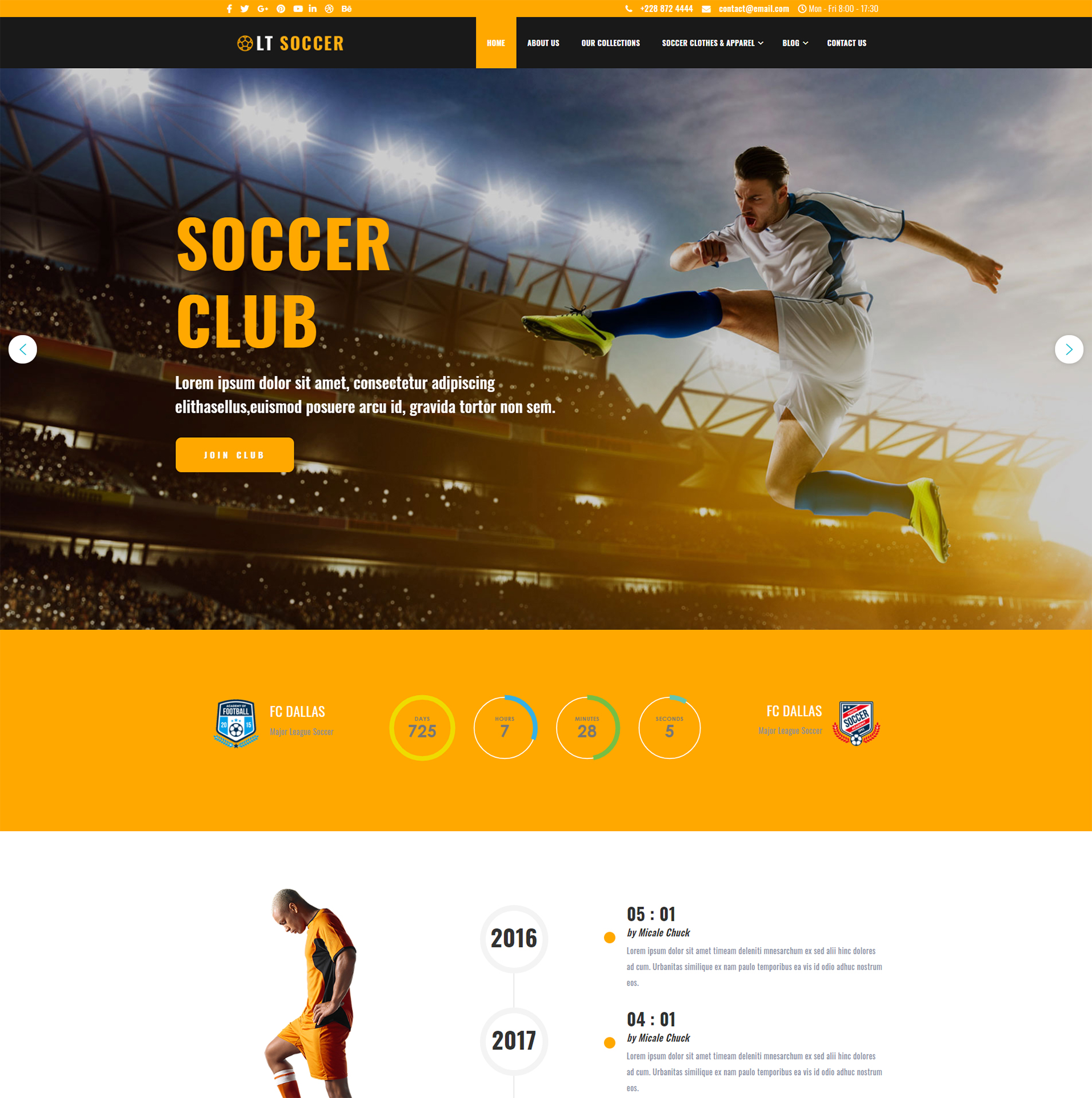 Football WooCommerce WordPress Theme