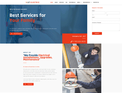 Construction WordPress Theme - LT Electric
