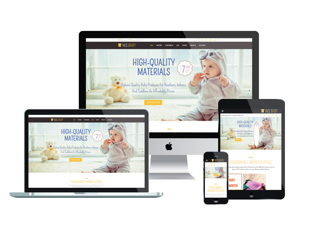 Baby Store WooCommerce  Wordpress mobile theme