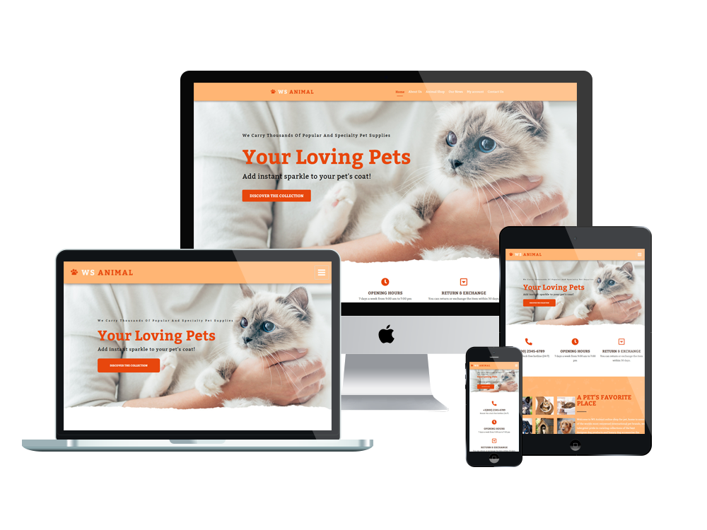 Pet Store WooCommerce  Wordpress mobile theme